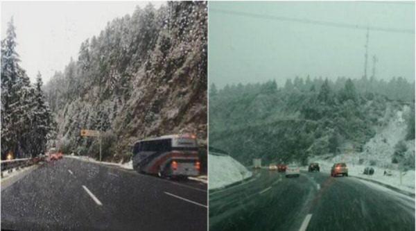 Por nevadas y agua nieve, cierran tramos carreteros en Edomex