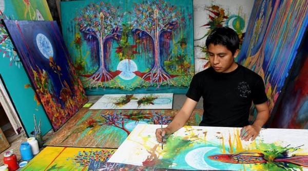 Llega a Oaxaca obra del artista Carlos Bazán