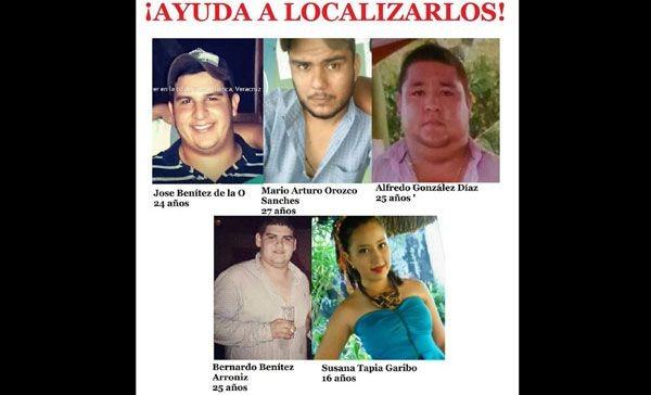 Denuncian desaparición de 5 jóvenes de Playa Vicente