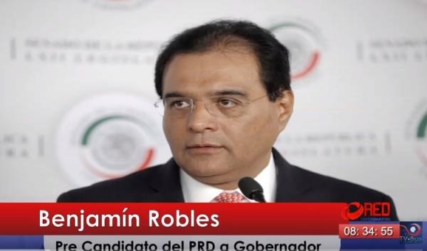 Benjamín Robles pide apoyo de militantes del PRD, PAN y PT, para ser candidato a gobernador