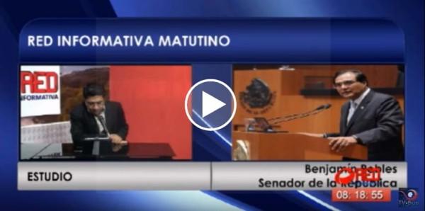 Enlace con el Senador Benjamín Robles Montoya. Habla sobre su tercer informe de actividades