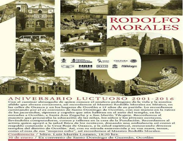 Realizarán aniversario luctuoso de Rodolfo Morales