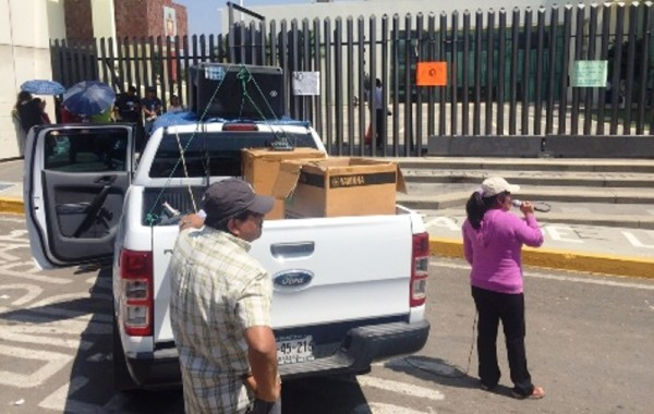 Sección 22 usa 67 vehículos oficiales en manifestaciones