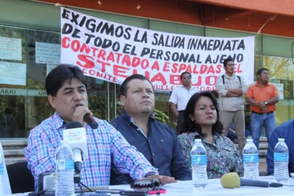 Anunciaron sindicalizados de la UABJO bloqueos en calles de Oaxaca