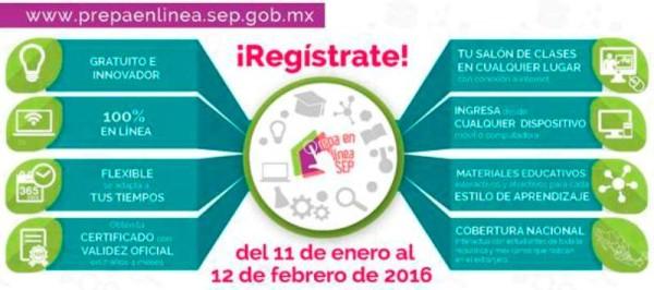 Abre SEP primera convocatoria 2016 para estudiar Prepa en Línea