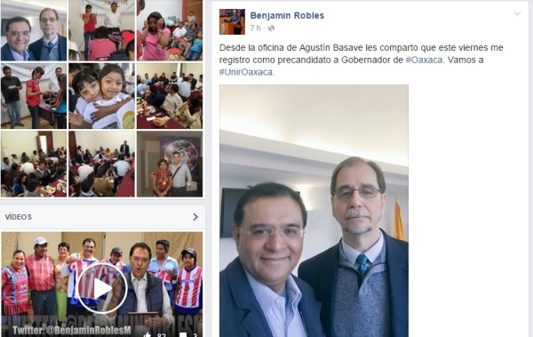 Anuncia Robles Montoya que se registrará el viernes en el PRD
