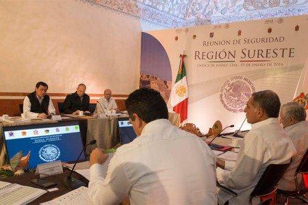 Preside Osorio Chong reunión de seguridad de la zona Sureste
