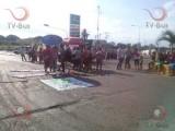 Se moviliza COOA, marcharon y bloquearon Flor de Piña