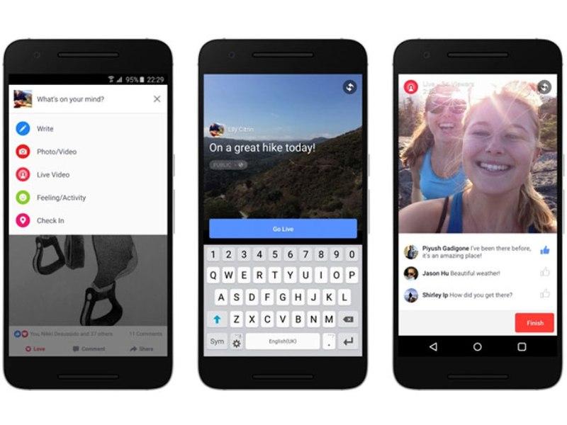 Facebook alista transmisión de videos en vivo para Android