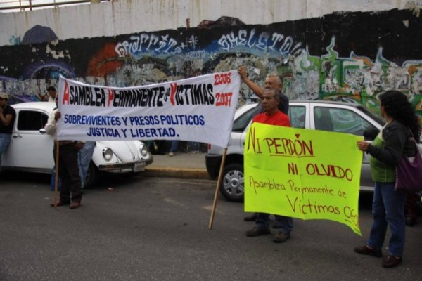 Protesta Sección 22 en DDHPO