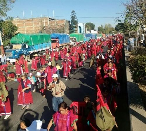 Marchó MULT en la capital oaxaqueña