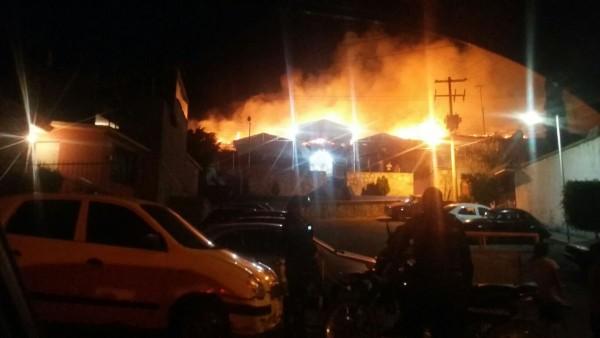 Incendio en El Rosario, Oaxaca.