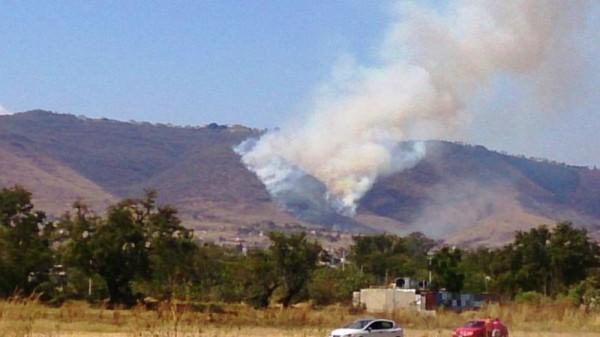 Posible desalojo en Monte Albán por incendio cercano