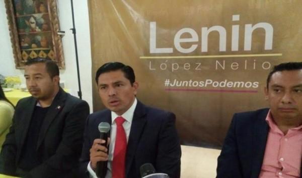 Lenin López se presenta como precandidato del PRD a la presidencia de Oaxaca