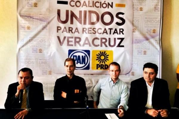 Confirman PAN y PRD alianza en Veracruz