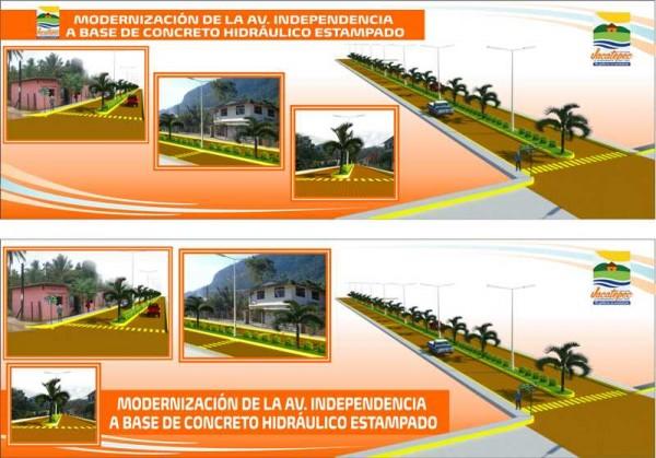 Gobierno de Jacatepec moderniza avenida principal