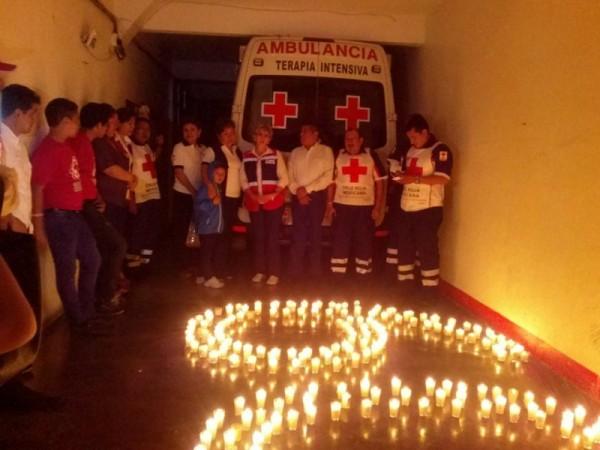 """Cruz Roja Tuxtepec, se une a """"La hora del planeta"""""""