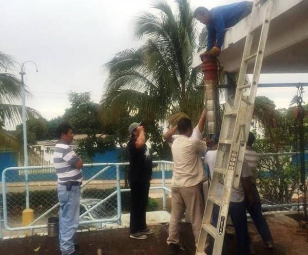 Restablece Ayuntamiento servicio de agua en macrotanque Tochtepetl 2000
