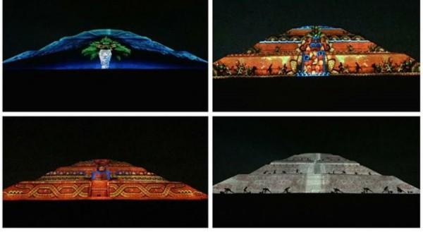 Peña Nieto inaugura espectáculo Experiencia Nocturna en Teotihuacán