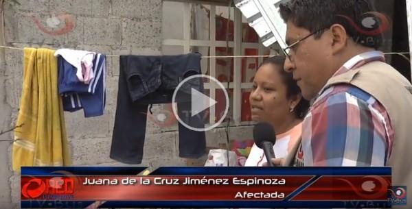 Damnificada de Ixcatlán, narra las afectaciones en su vivienda