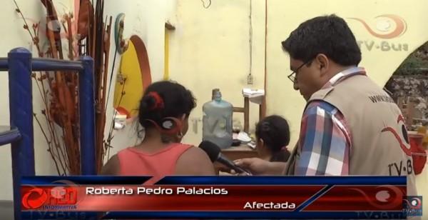 La Sra.Roberta Pedro Palacios, otra de las afectadas en Ixcatlán