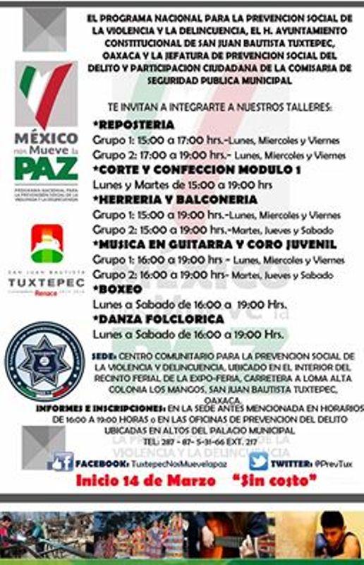 Invita Ayuntamiento a Talleres de artes y oficios gratuitos