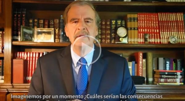 Vicente Fox publica video contra Donald Trump