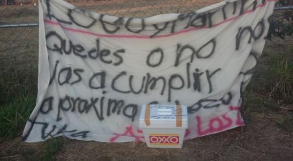 Hielera con supuesto narcomensaje para edil de Xoxocotlán