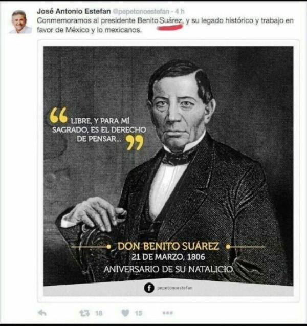 Y siguen los candidatos… Estefan Garfias le pone Suárez a Benito Juárez