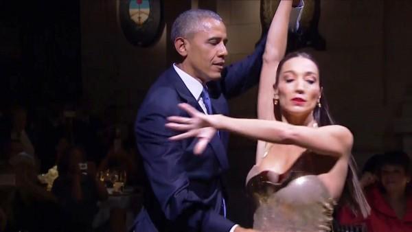 Baila Obama a ritmo de tango