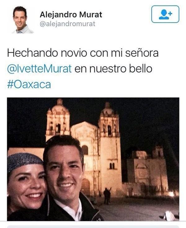 """Alejandro Murat escribió """"Hechando"""" en Twitter"""