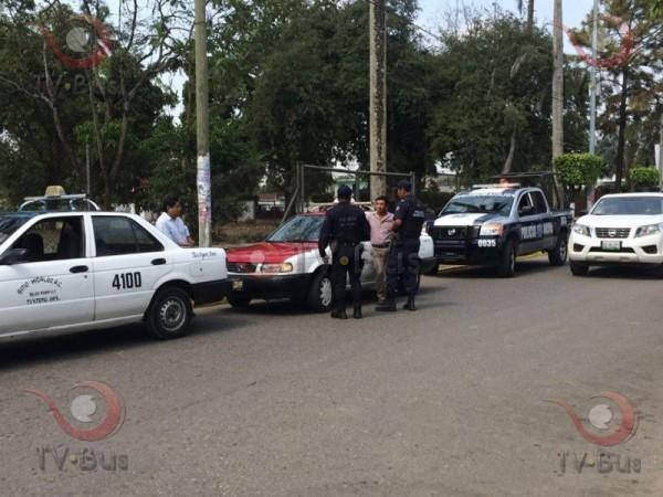 GALERÍA: Taxistas detenidos por peleoneros