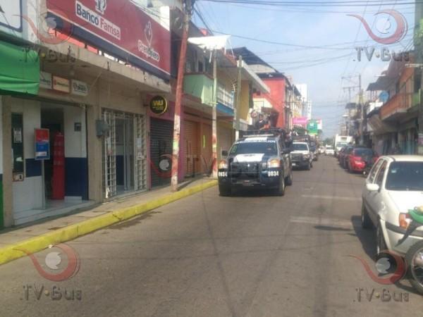Fuerzas de seguridad recorren calles de Tuxtepec
