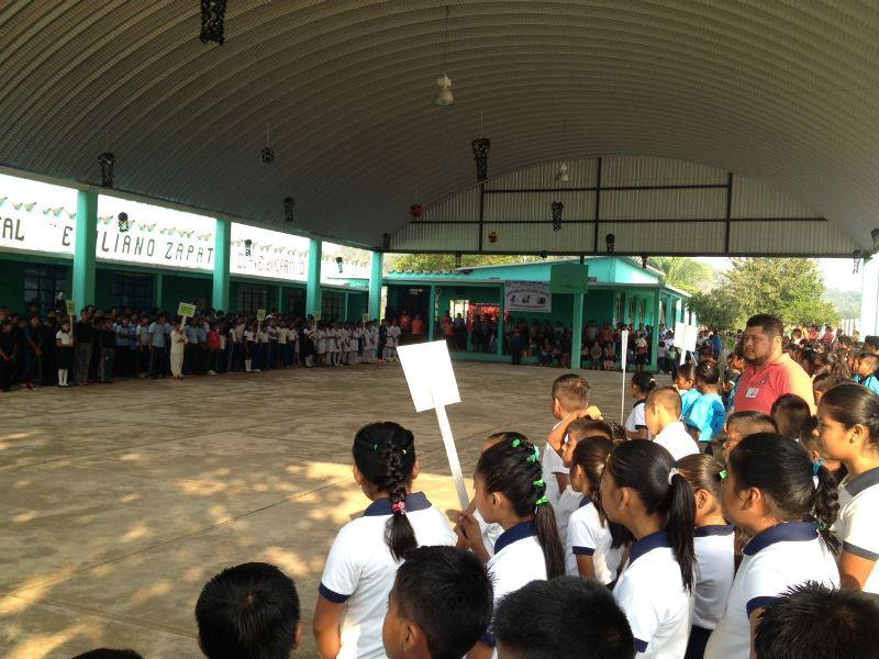 Mejoran infraestructura educativa en Jacatepec