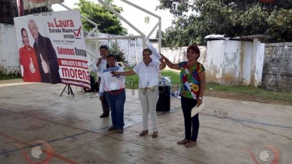 Candidata de MORENA a la diputación, inicia campaña
