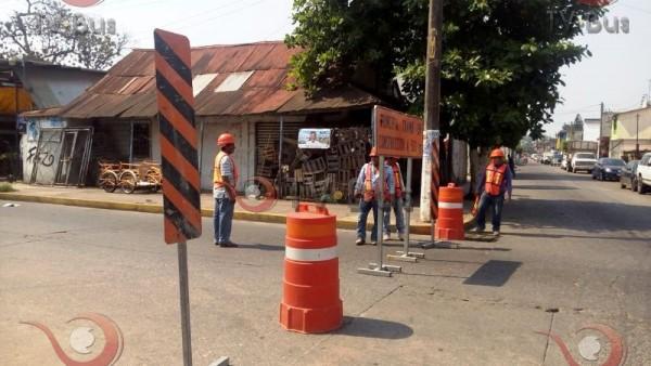 FOTOS: Cortes viales por obra, tome precauciones