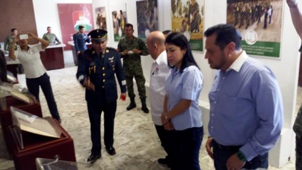 """Montan exposición """"La gran fuerza de México"""" en palacio municipal de Tuxtepec"""