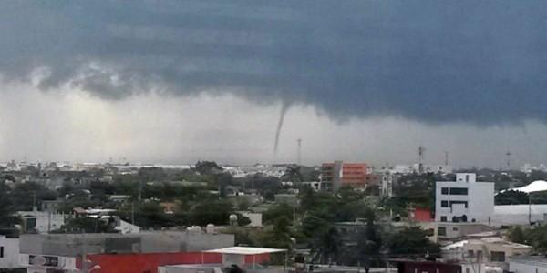 Tromba en Campeche; un fallecido