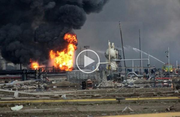 Explosión de planta de PEMEX en Coatzacoalcos