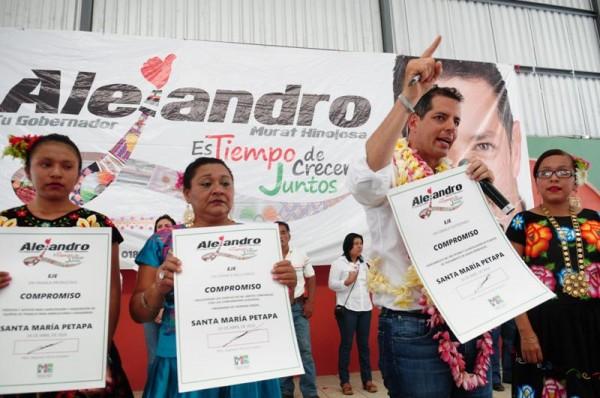 Los pueblos indigenas serán prioridad en mi gobierno : Alejandro Murat