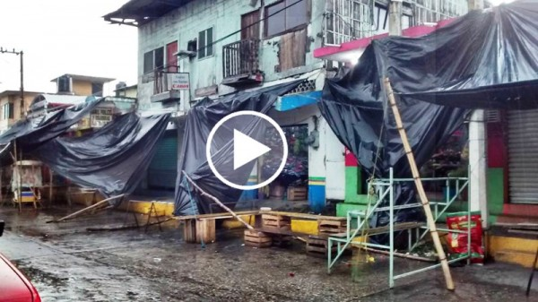VIDEO: Fuerte tormenta eléctrica se registra en Cosolapa