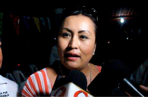 Denuncia Luz Montes que otros candidatos no le dejan hacer campaña