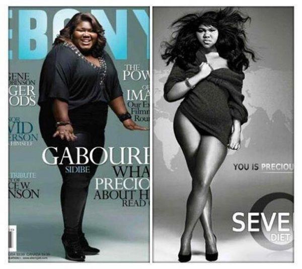 Así se ve la actriz de 'Precious' con 80 kg menos