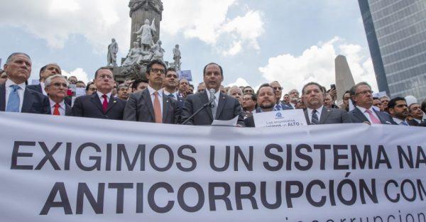No más corruptos impunes: empresarios de la Coparmex se manifiestan