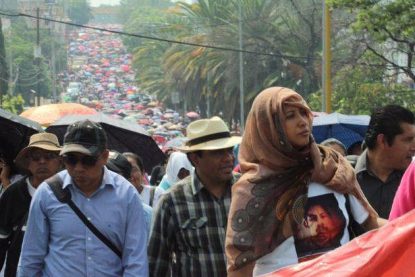 GALERÍA: Mega marcha de la CNTE en Oaxaca