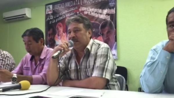 Acepta líder de la S-07 de la CNTE apoyo del EZLN