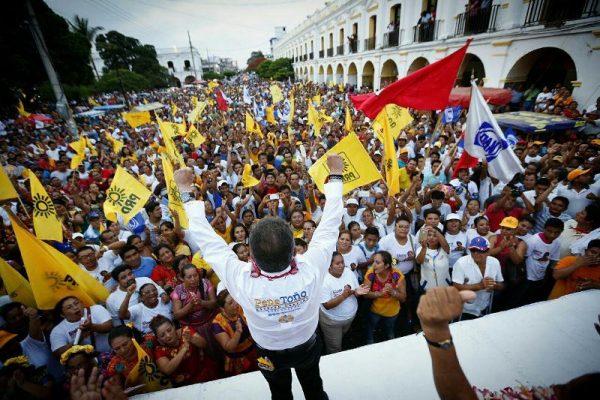 En el Istmo de Tehuantepec, memorable  cierre de campaña de Pepe Toño
