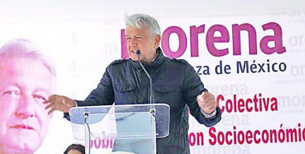 Amenaza AMLO; si no hay mitin en el Zócalo, será en Reforma