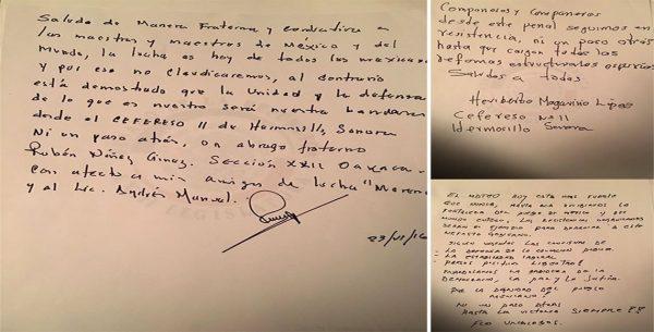 Envía Rubén Núñez carta a AMLO desde el penal de Hermosillo