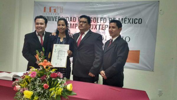 Se titula la primer alumna de la segunda generación de la UGM campus Tuxtepec